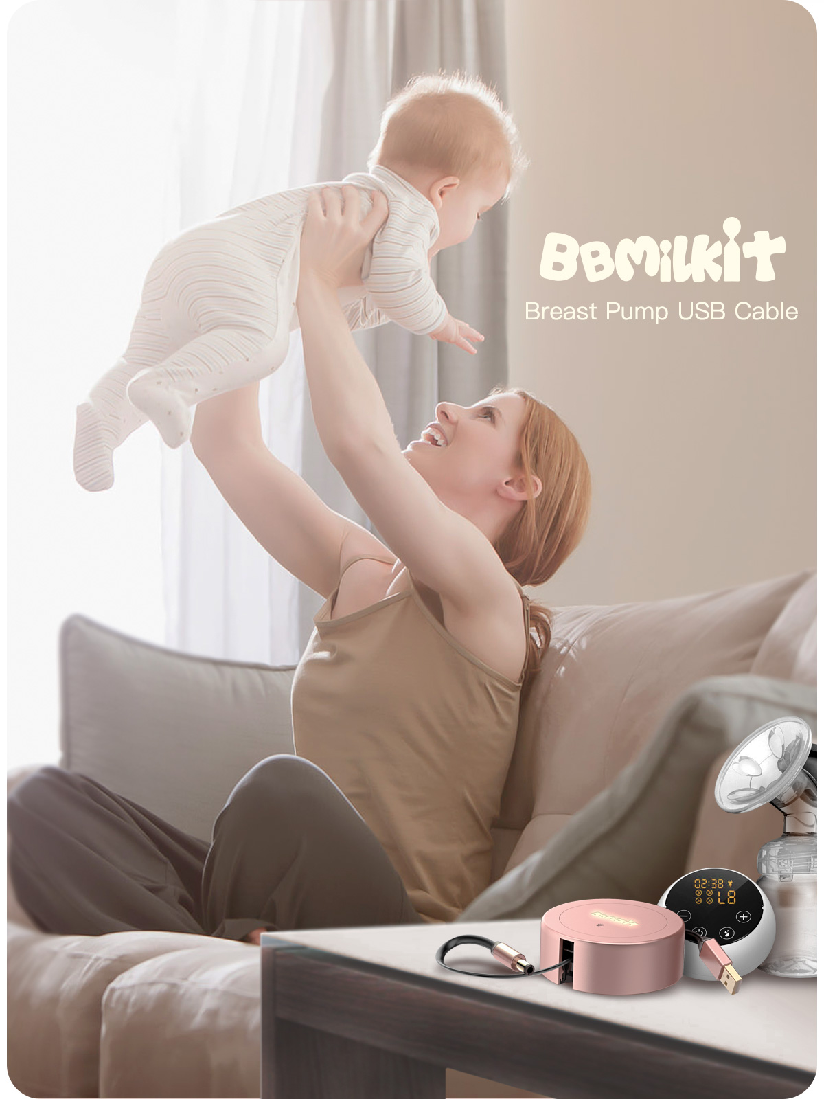 Bbmilkit breast pump usb cable